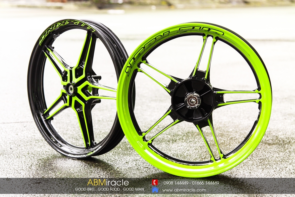 Yamaha Exciter 150 Wheels GREEN NEON